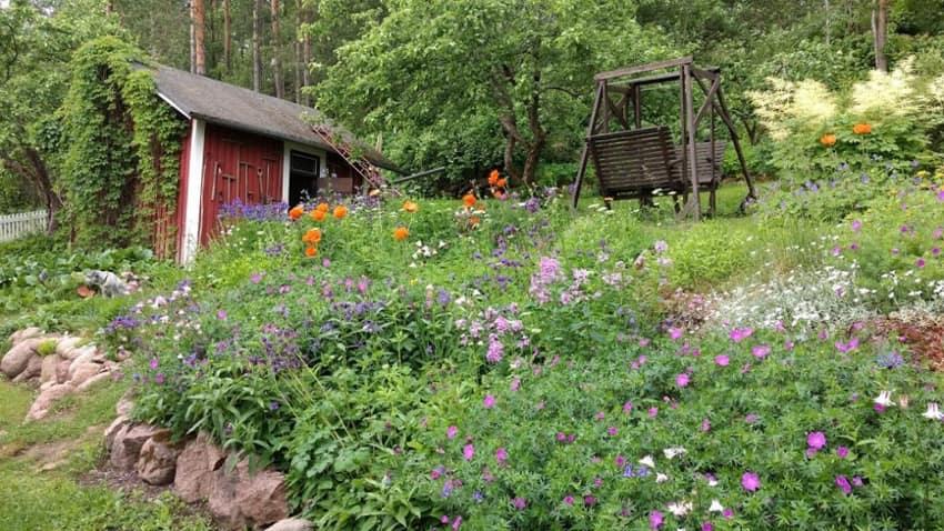 Vanha puutarhurin piha